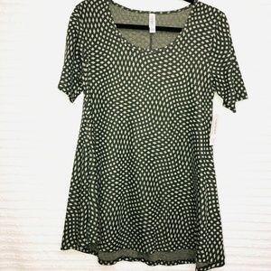 LulaRoe Perfect T Green Tonal Diamond Shirt